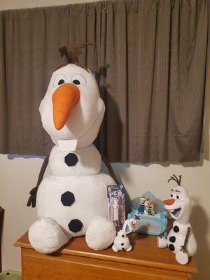 Photo Disney Frozen 5 pcs lot olaf 32 inch plush else anna music toy