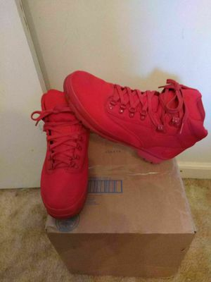 Men's Timberland boots all red sz 12 for Sale in Rustburg, VA