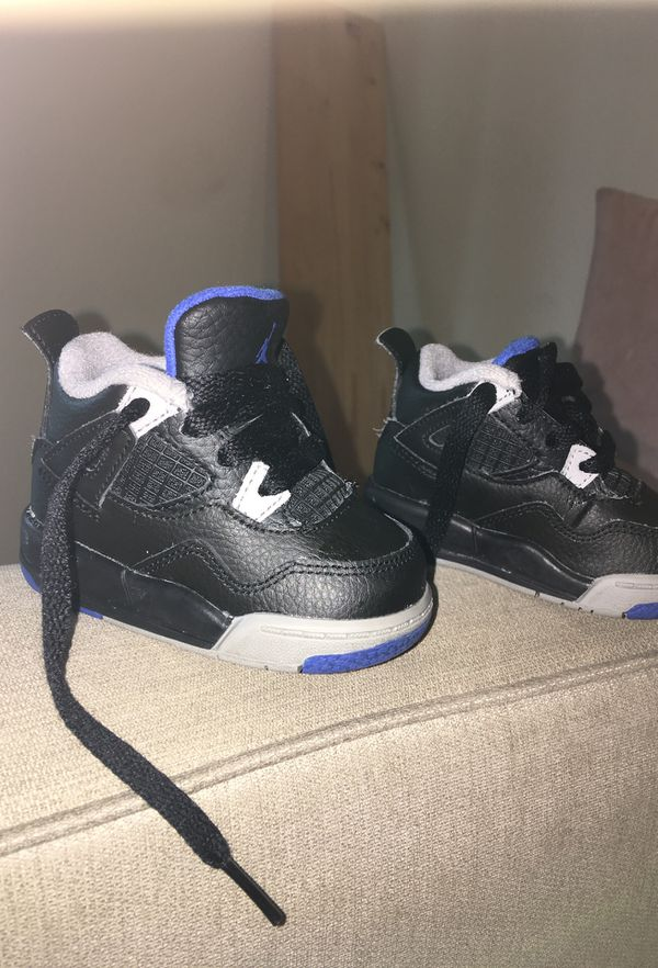 online retailer 97f9d f05d0 Baby jordan 4s black grey and blue for Sale in Tacoma, WA - OfferUp