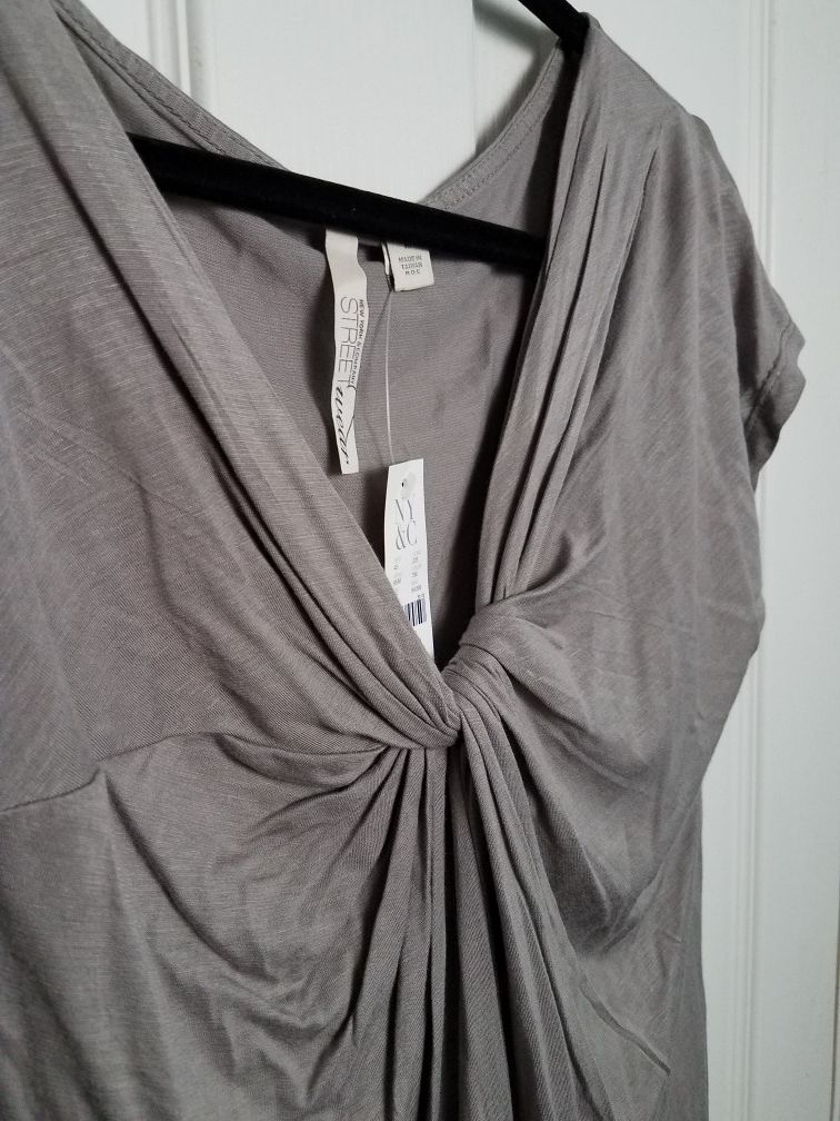 NWT New York & Co Streetwear silver knot top