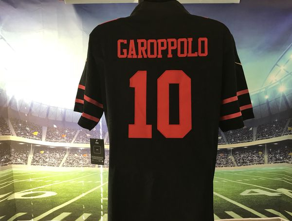 San Francisco 49ers  10 Jimmy Garoppolo Nike Black Alternate Game Jersey 6b165327a
