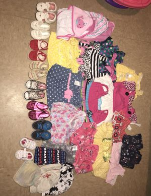 Baby girl Clothes Bundle & Name brand shoes for Sale in Philadelphia, PA