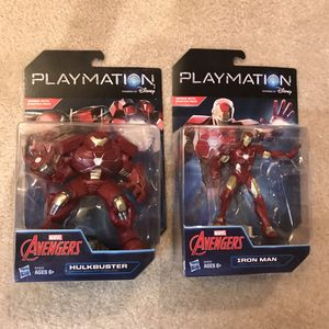 NEW Iron man and hulk buster marvel avengers Playmation figure figurines for Sale in Burtonsville, MD