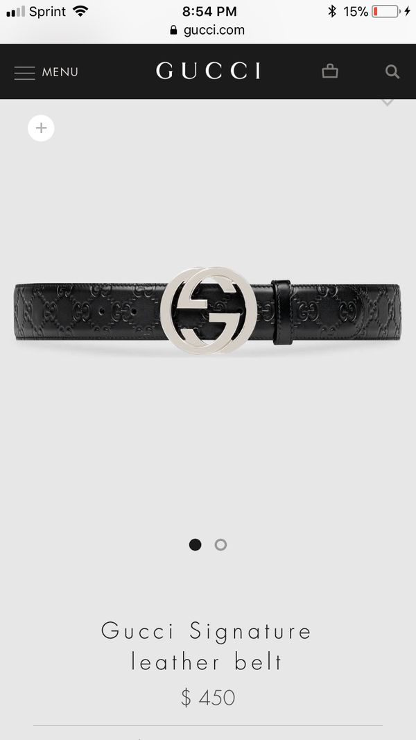 ab11bbb9db2f9 Gucci belt (size 75) for Sale in Columbus
