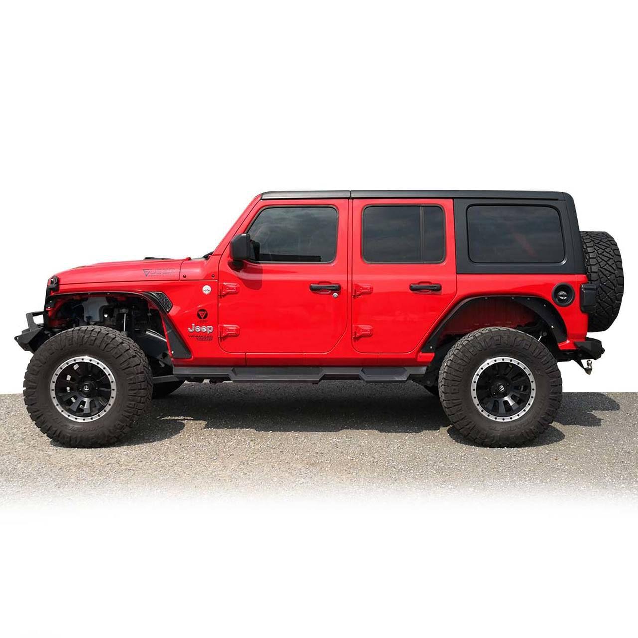 NEW Jeep Wrangler JL, JLU, Flat Top style metal fenders