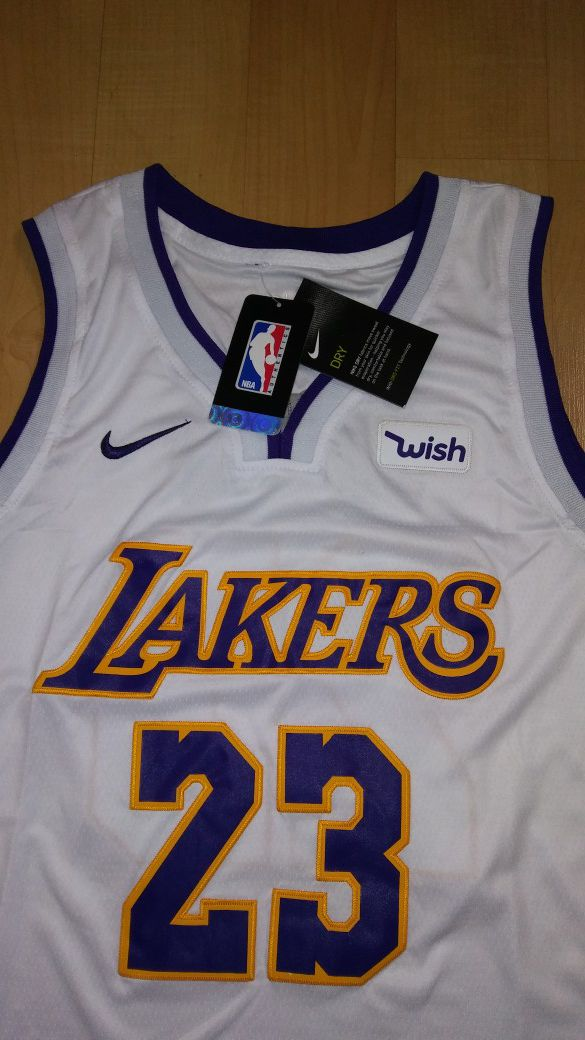 lebron james lakers jersey white