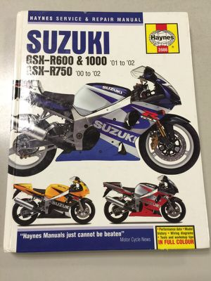Haynes GSXR Manual for Sale in New York, NY