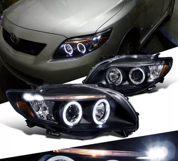 2009 2010 Toyota Corolla Halo Led Headlights