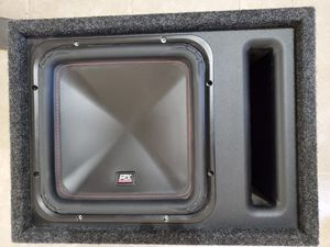Photo MTX 12 inch subwoofer and Box.