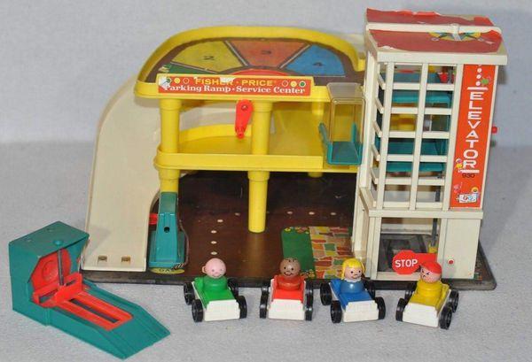 Little People Garage : Vintage fisher price little people parking garage set complete for