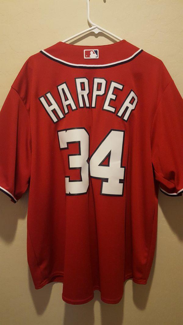 factory price 07e61 efb04 best bryce harper red jersey 95f76 d0d2d
