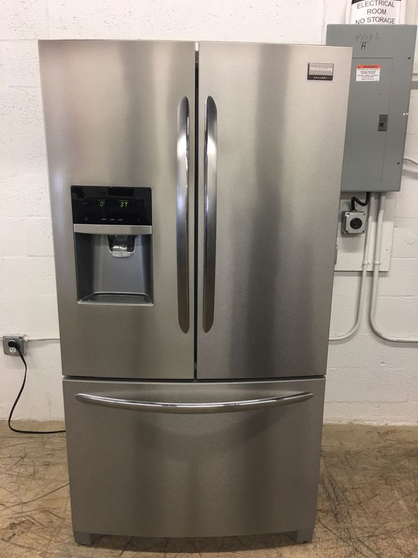 Stainless Steel Frigidaire Refrigerator French Doors Excellent
