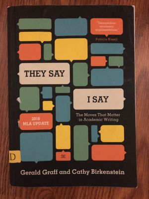They say I say TSIS English 101 book for Sale in Philadelphia, PA