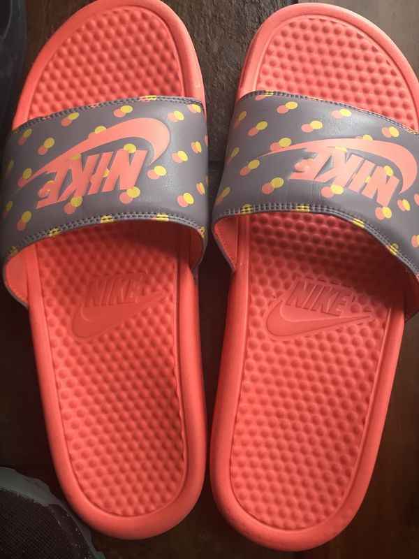 c437974ead9 Neon orange Nike slides for Sale in Raleigh