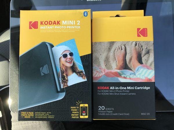 Kodak Mini 2 Instant Photo Printer And 20 Sheet Refill Cartridge For