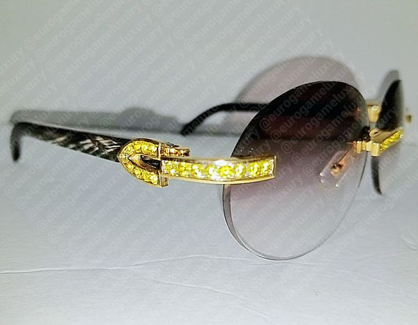 2303853dbed CAPPUCCINO BUFFALO HORN CARTIER BUFFS w CANARY YELLOW ICE for Sale ...