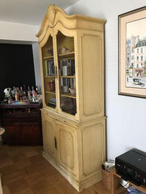 Solid Wood Framed Two Piece Display Cabinet for Sale in Bethesda, MD