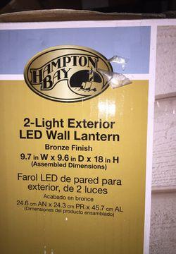 2-light exterior LED wall lantern Thumbnail