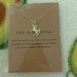 Unicorn Necklace  Thumbnail