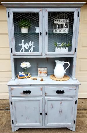 Beautiful Hand Painted Hutch / Cabinet for Sale in Springfield, VA