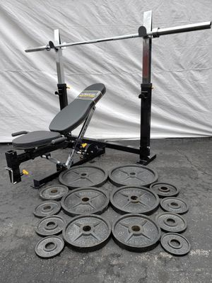 Photo Powertec Workbench and 300lb Olympic Weight Set