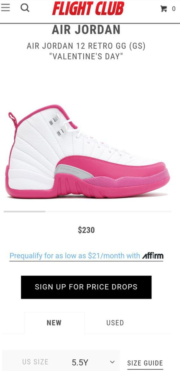 60d9105213c7 Jordan Valentine 12s Size 5.5y for Sale in Grove City