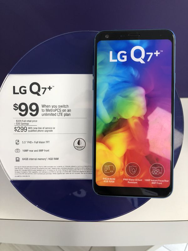 Get the new Lg Q7 for 99$ when you switch to MetroPCS! for Sale in Conroe,  TX - OfferUp