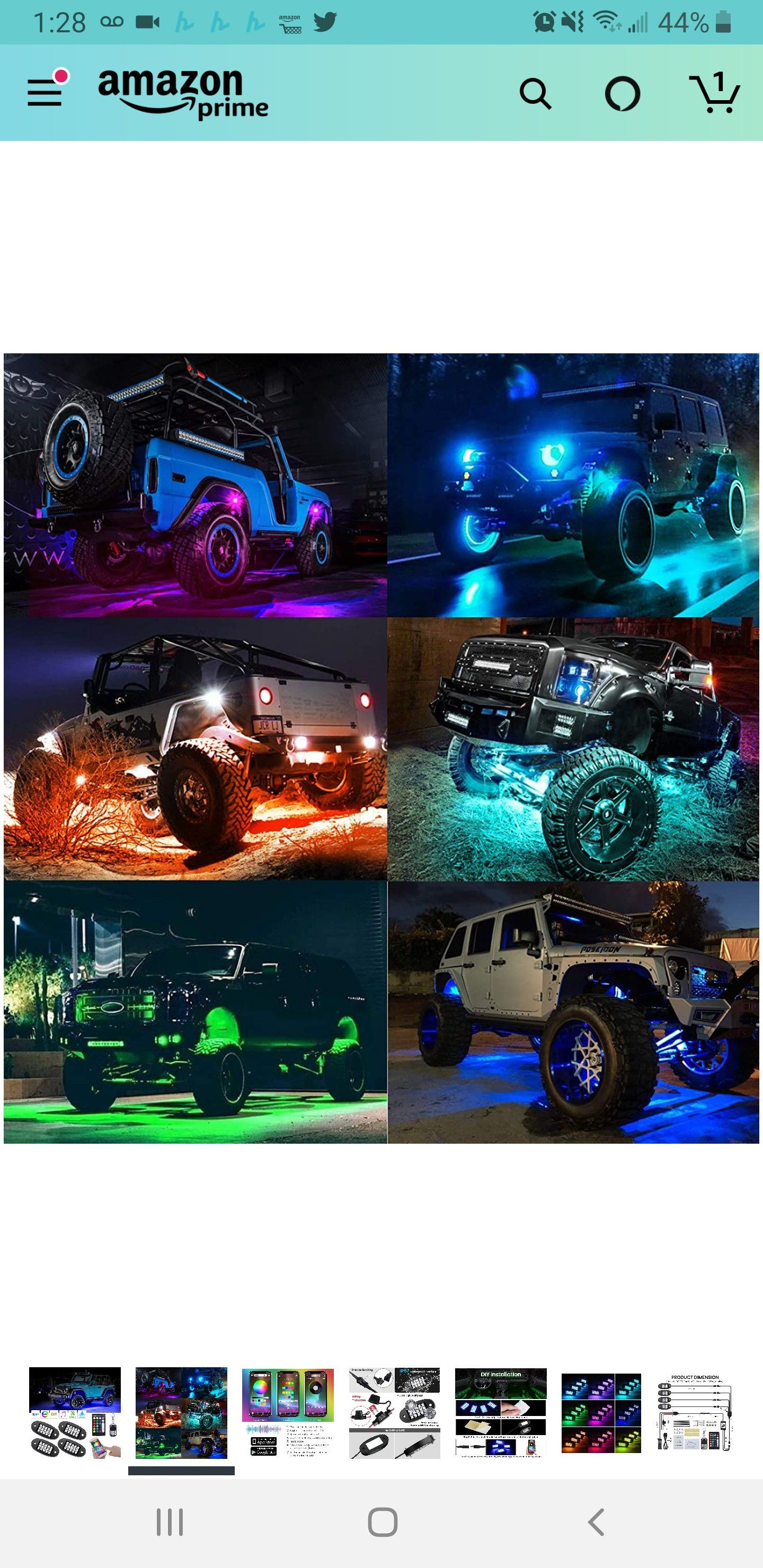 New in sealed box, RGB LED Rock Lights, 90 LEDs Multicolor Neon Underglow Waterproof Music Lighting Kit with APP & RF Control