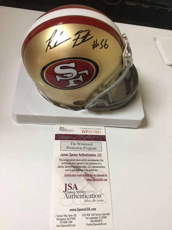 7518c736351 Reuben Foster signed Autographed 49ers Mini Helmet JSA Witnessed for Sale  in San Francisco