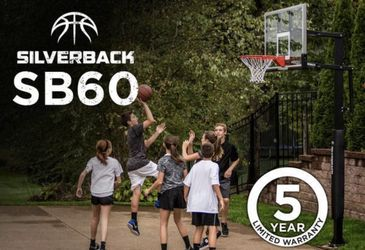 """Silverback 60"""" In-Ground Basketball System with Adjustable-Height SB60 Thumbnail"""