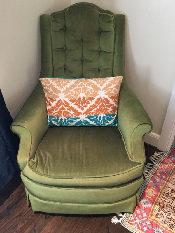 Awe Inspiring Green Shabby Chic Chair For Sale In Houston Tx Offerup Interior Design Ideas Helimdqseriescom