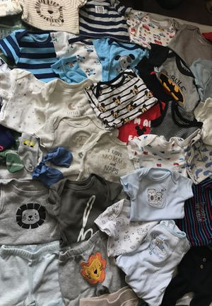 0-3 Months baby boy onesies, pants, and socks for Sale in Fort Washington, MD