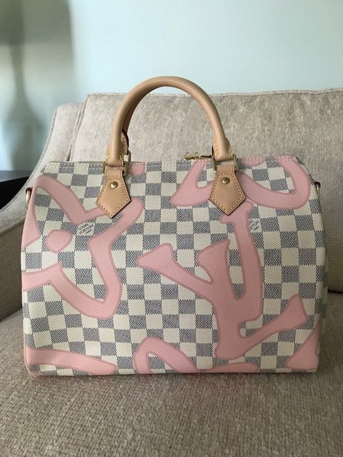 3033fee8e9b7 Authentic Louis Vuitton Damier Azur Tahitienne Speedy 30 for Sale in ...