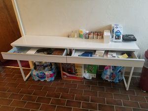Ikea steel white desk for Sale in Pittsburgh, PA