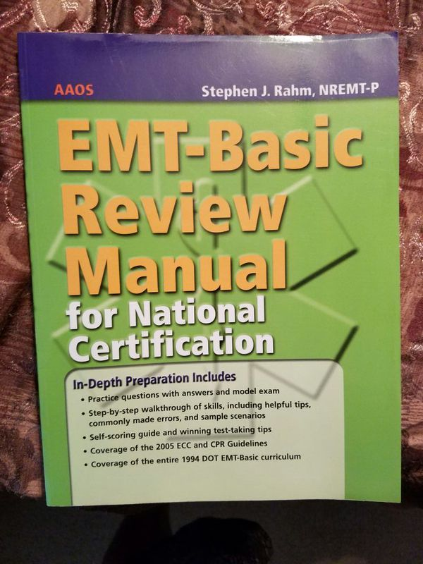 Emt Basic Review Manual For National Certification For Sale In