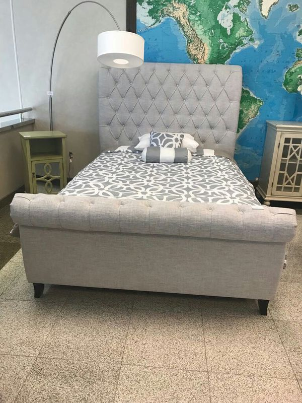Brand New grey queen size bed frame for Sale in Houston, TX - OfferUp