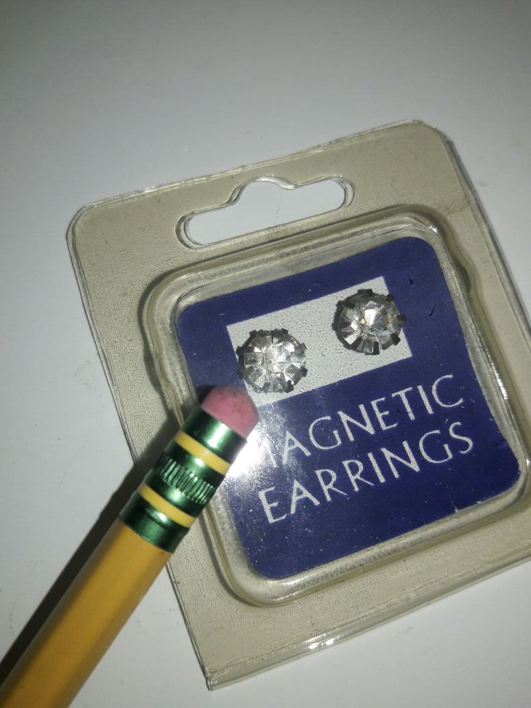 Magnetic earrings Crystal 1 pair 2$ or 6 pairs 6$