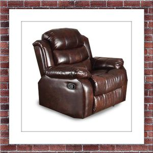 Burgundy recliner chair free delivery for Sale in Herndon, VA