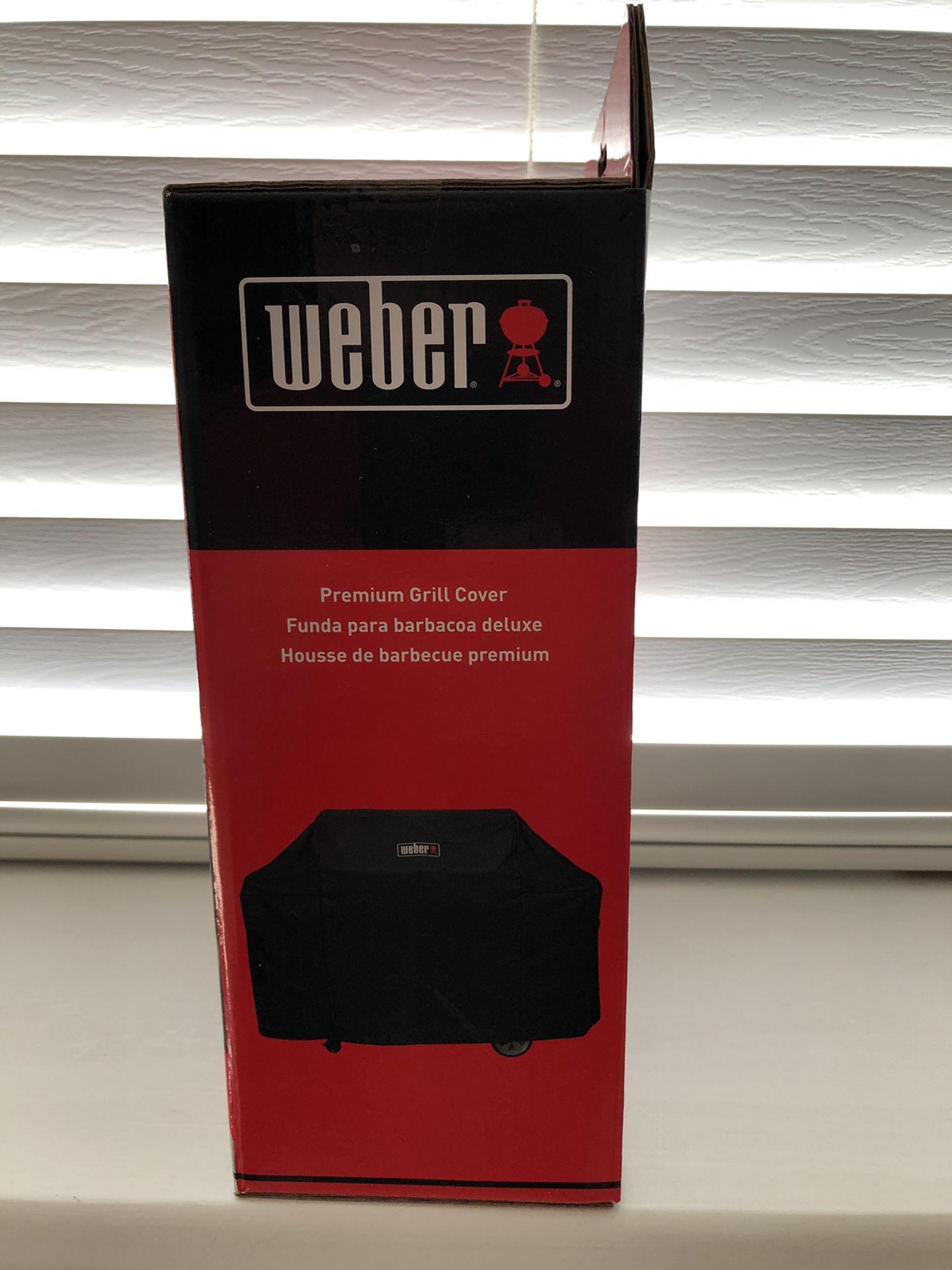 Weber Genesis II & LX 400 Series Premium Grill Cover, Black