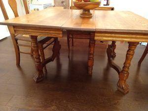 1890s oak dining set for Sale in Alexandria, VA