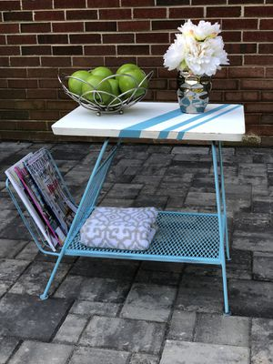 Blue and white side table for Sale in Frederick, MD