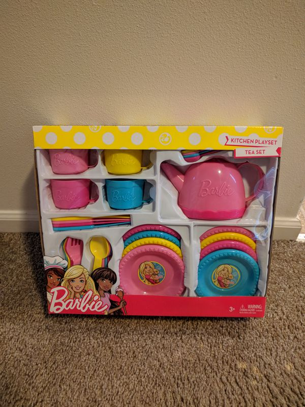 Barbie Kitchen Playset Tea Set For Sale In Auburn Wa Offerup