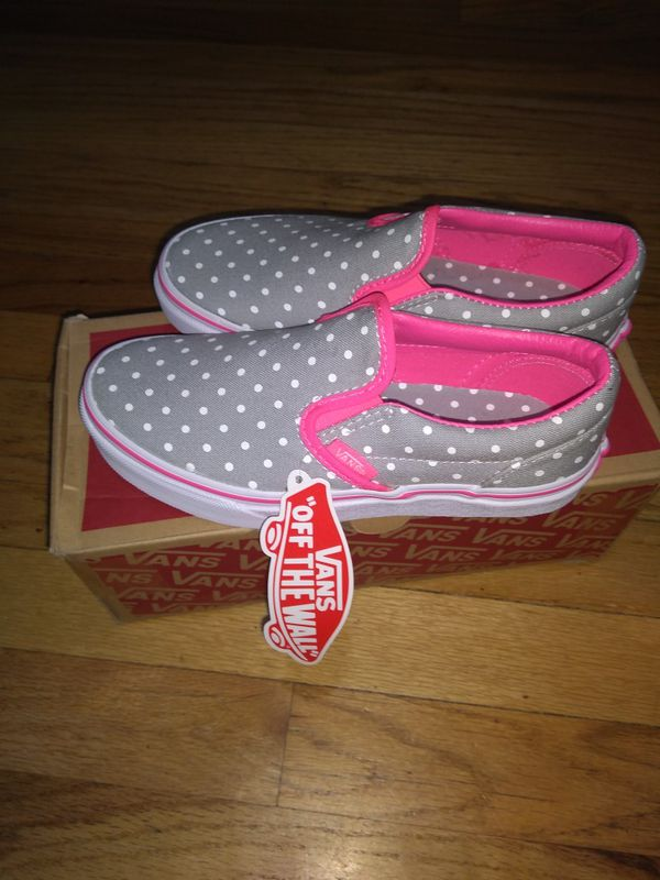 6a1d2f645b Vans classic Slip on for kids. Dots High Hi. Size 1.5 US Little kids for  Sale in Denver, CO - OfferUp