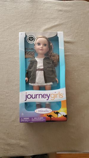 "NIB American Girl 18"" Doll Caroline Ice Skating Set New In Classic Box Retired"