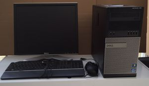 Dell Optiplex 7010 With Windows 7 Professional with Monitor, Keyboard, Mice With WiFi Adapter connect wirelessly Computer/Desktop for Sale in Glen Allen, VA