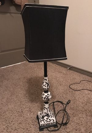 Black and White Lamp for Sale in Houston, TX