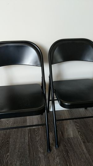 Two metal folding chairs for Sale in Arlington, VA