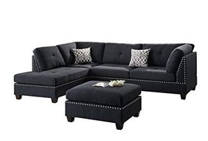 New Sectional Couch Black With Ottoman For In Los Angeles Ca