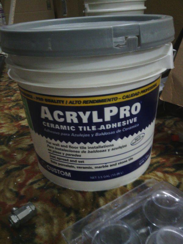 Acryl Pro Ceramic Tile Adhesive 3 12 Gallon Buckst For Sale In