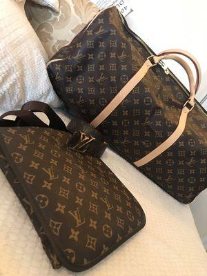 LV belt, side bag, duffle bag forsale for Sale in Lancaster, CA